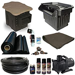 30 x 40 Mega Koi Pond Kit 8,000 GPH Pump Pondbuilder Elite Skimmer & Elite Waterfall MP7