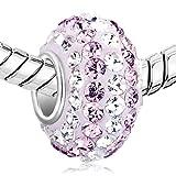 Pugster Sale Sterling Silver 925 Clear Austrian Crystal Charms Birthstone Beads Fit Pandora Bracelet Bild 1