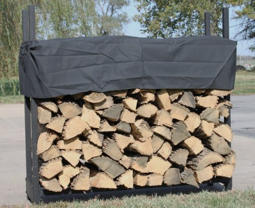 Woodhaven 4' Firewood Rack with seasoning cover Alexander Mfg. Co. Inc. WR00RIABUK