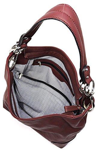 Key Carry Lydia Concealed and Lock Hobo Handbag Navy 5aI7qwI
