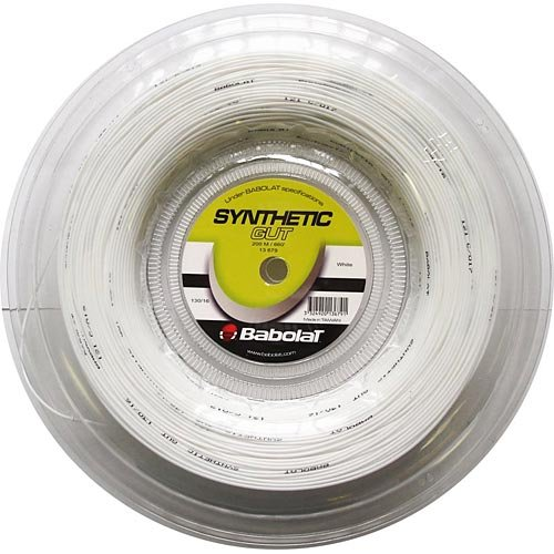 Babolat Synthetic Gut 17G (660ft) REEL White (Synthetic Gut 17g Reel)