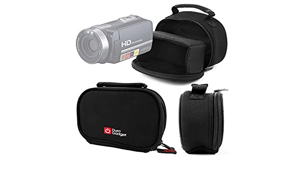 Compatible with PowerLead Puto PLD003 Mini Camcorder DURAGADGET Portable Camera Case with Padded Interior /& Shoulder Strap