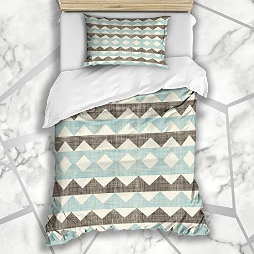 Six Twin Sock Argyle - Ahawoso Duvet Cover Sets Twin 68X86 Diagonal Beige Socks Abstract Retro Colors Pattern Menswear Blue Argyle Circus Classic Diamond Design Microfiber Bedding with 1 Pillow Shams