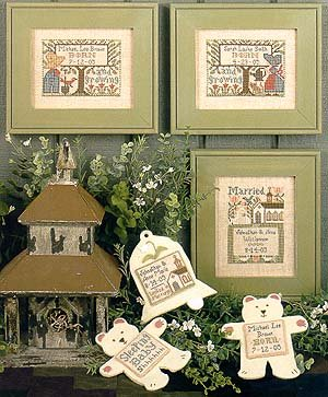 The Prairie Schooler - Wedding and Birth Sampler IV (Patterns Sampler Wedding Cross Stitch)