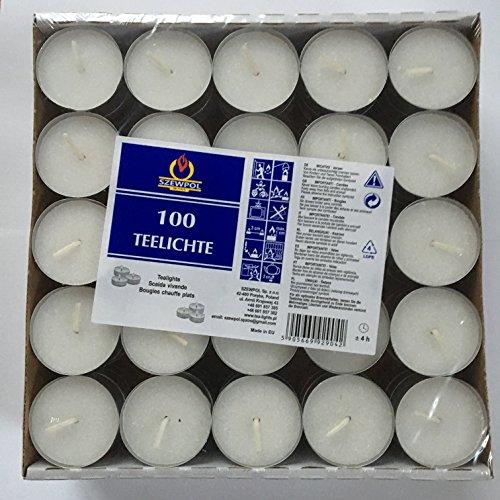 100 Teelichter, Weiß