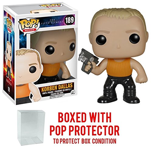 Funko Pop! Movies: The Fifth Element - Korben Dallas Vinyl Figure (Bundled with Pop BOX PROTECTOR CASE)