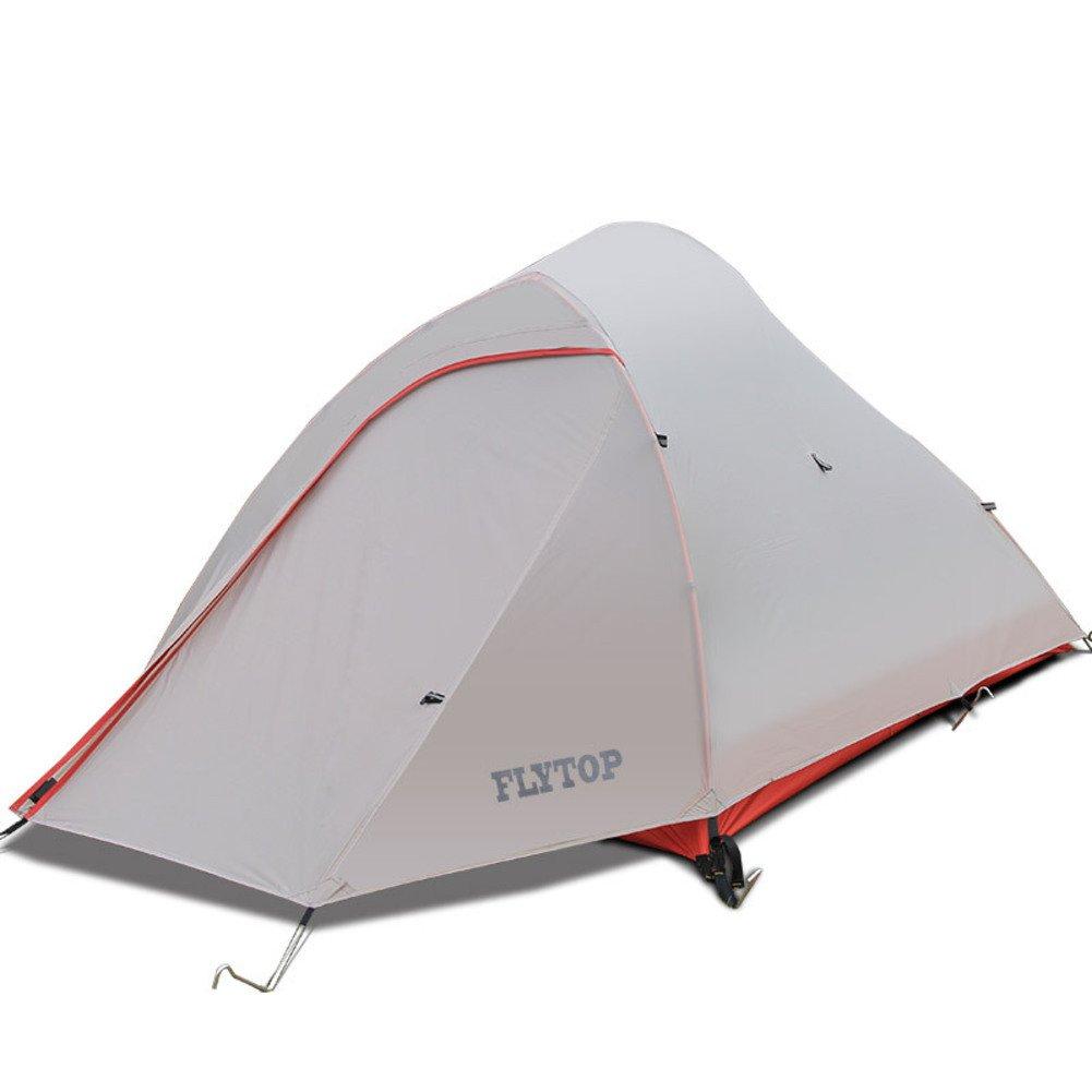 TY&WJ Campingzelt, Double Layer Kuppelzelte Aluminiumstange Anti-regensturm Teepeefor Outdoor-sportarten Single Ultra 4-jahreszeiten 2 Personen