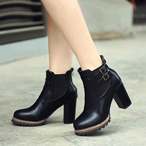 Heels Platform Boots Winter Autumn Black Shoes Women Shoes Women Shoes Black Boot Ankle Women High 38 U7qc0FwI