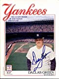 Autograph Warehouse 17250 1989 New York Yankees Autographed Program Dallas Green