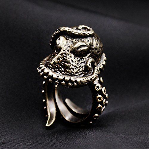 Vintage Bronze Octopus Ring