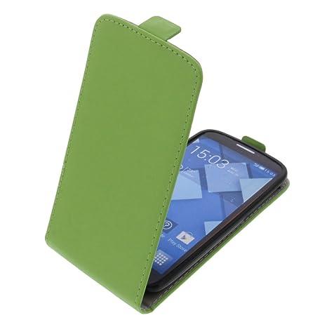 foto-kontor Tasche für Alcatel One Touch Pop C7 Smartphone Flipstyle Schutz Hülle grün