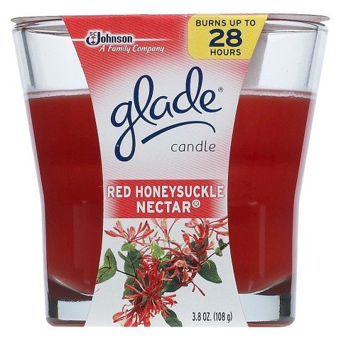 Glade Candle Red Honeysuckle Nectar, 4oz (Pack of 6)