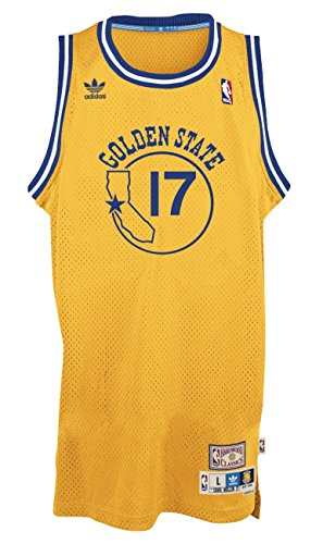 (Chris Mullin Golden State Warriors Gold Throwback Swingman Jersey Small)