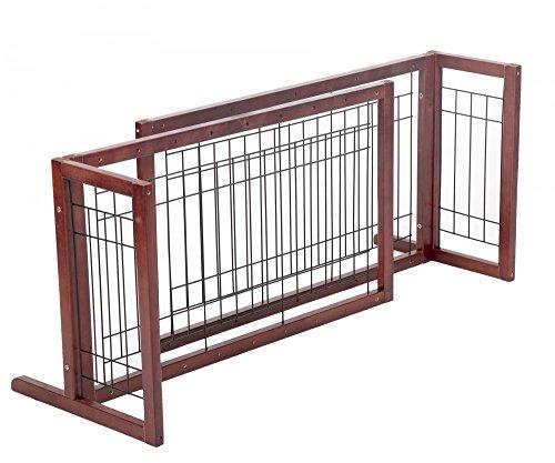 Adjustable Indoor Wood Construction Pet Fence Gate Free Standing Dog Gate by BestPet (Wholesale Dog)
