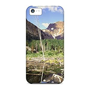 DaMMeke Case Cover For Iphone 5c - Retailer Packaging Beaver Pond In Lundy Canyon Califirnia Protective Case