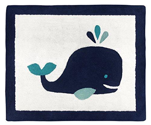 Accent Floor Rug - Sweet JoJo Designs Boy or Girl Accent Floor Rug Bedroom Decor for Blue Whale Kids Bedding Collection