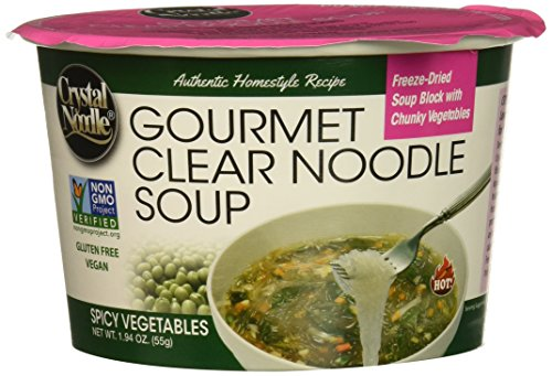 Crystal Noodle Non-GMO Long Noodle Soup, Spicy Vegetables, 1.94 Ounce (Pack of 6) by Crystal Noodle