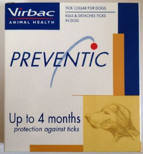 Virbac Preventic Dog Tick Collar up to 4 Months Protection Against Ticks - New with Box! For Dog Less Than 60 Lbs.