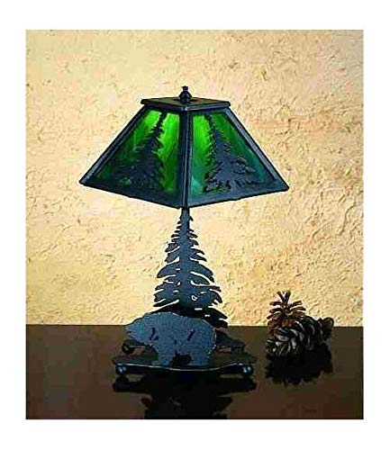 Meyda Tiffany 31386 Lone Grizzly Bear Accent Lamp, 14'' Height
