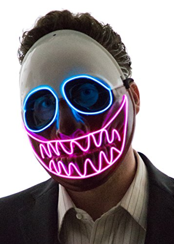 NEON NIGHTLIFE Men's Light Up Creepy Puppet Mask