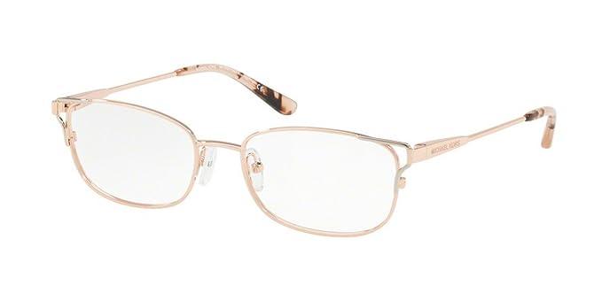 Michael Kors San Vicente, Monturas de Gafas para Mujer, Rose Gold/Silver/
