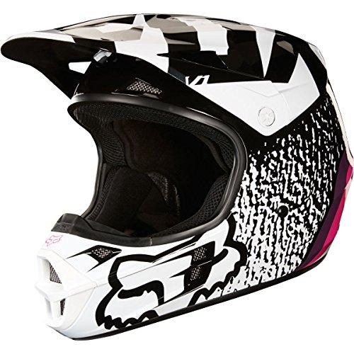 Fox Racing halyn adulto V1Off-Road motocicleta Cascos, Negro/Rosado, Pequeño