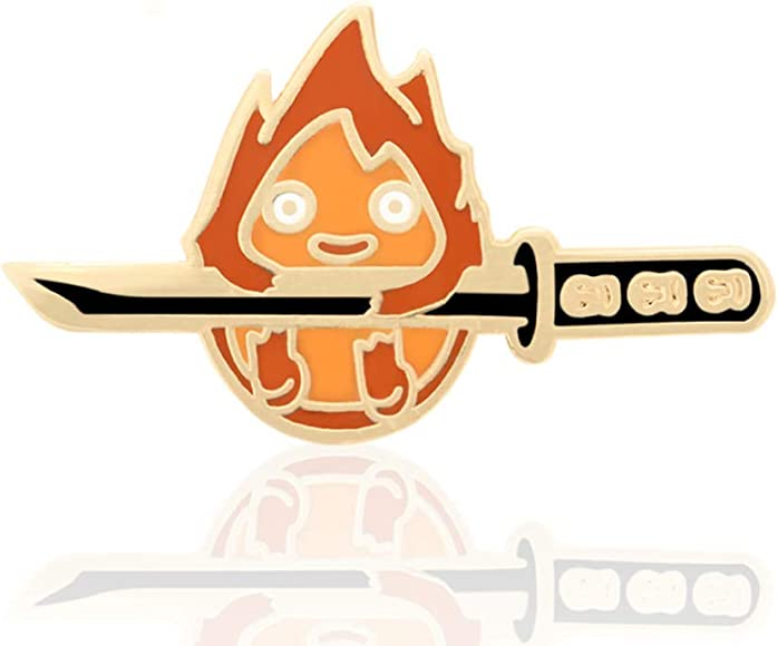 Amazon.com: Calcifer Studio Samurai Ghibi Pin de esmalte ...
