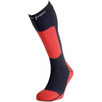 Lorpen - Ski Polartec, Color Rojo,Negro, Talla UK-3.5