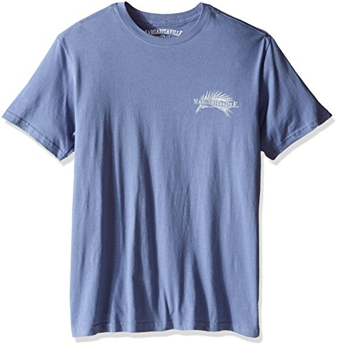 Margaritaville Men's Short Sleeve It/s 5 O'clock Somewhere T-Shirt, Country Blue, X-Large