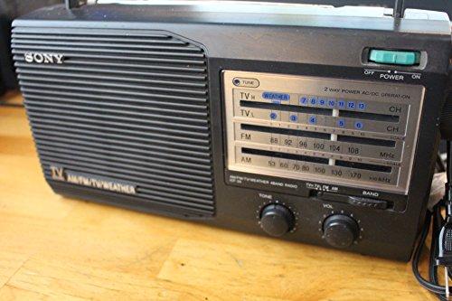 (Vintage Sony 4 Band Radio Am Fm Tv Weather Model: Icf-34)