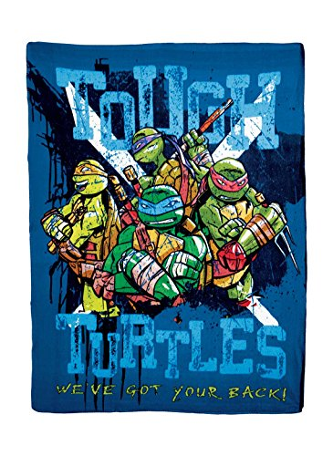 Teenage Mutant Ninja Turtles, Tough Turtle Blues Printed Fleece Throw, 45