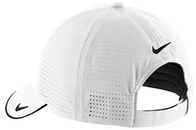 74c19794 Amazon.com : Nike Golf - Dri-FIT Swoosh Perforated Cap, 429467, White, No  Size : Hats : Clothing