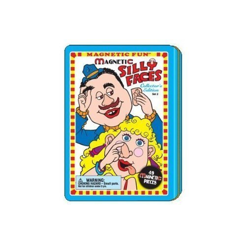 Silly Faces Magnetic Fun¨ Tin Set (Magnetic Playset)