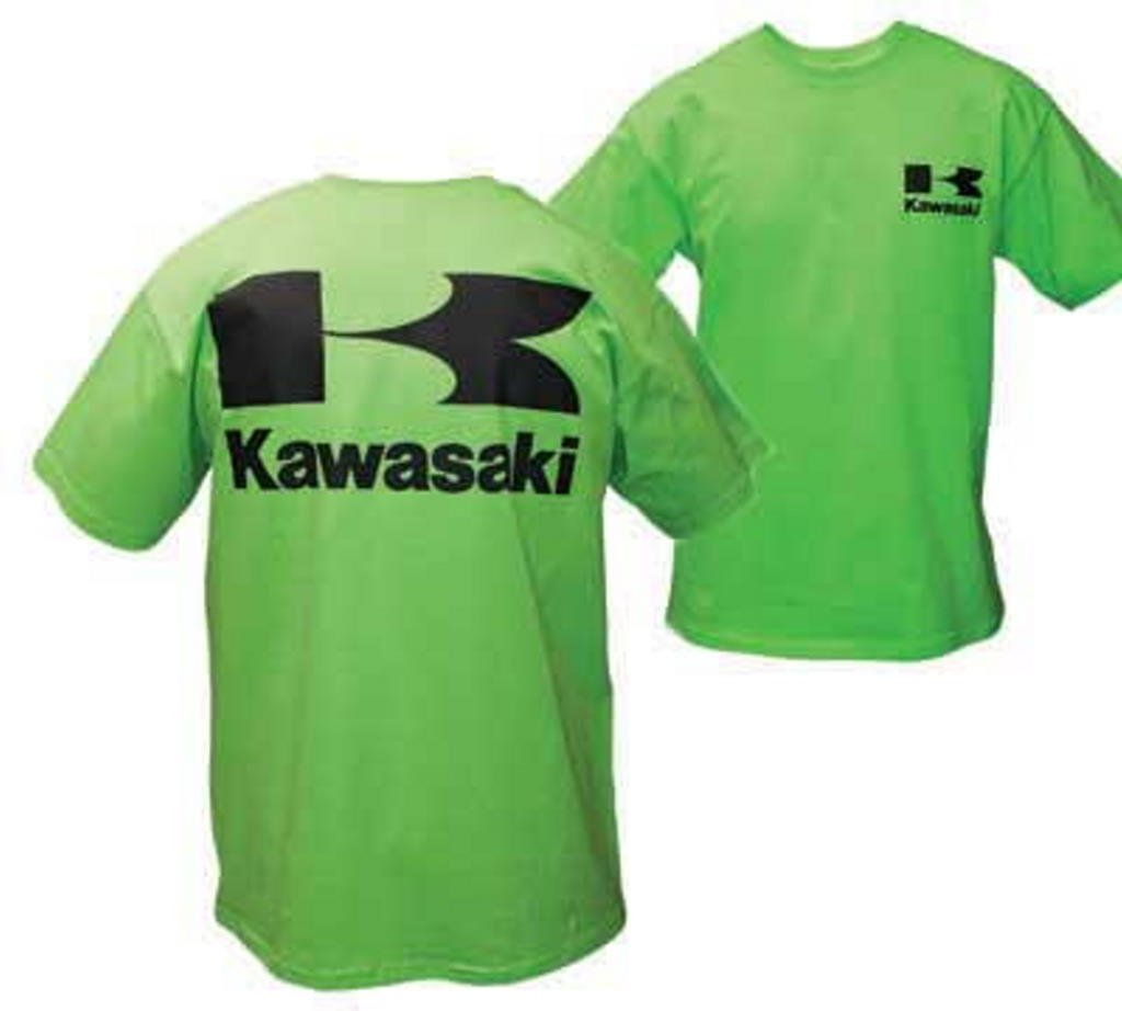 Kawasaki Stacked Logo Short Sleeve T-Shirt Green XX-Large XXL 2X
