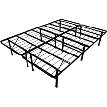 ViscoLogic Brands Platform Heavy Duty Metal Bed Frame/Mattress Foundation, BEDFR54 (Full)