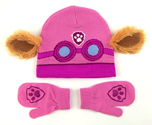 [Nickelodeon Paw Patrol Skye Costume Hat and Mittens Set] (Paw Patrol Costumes Skye)