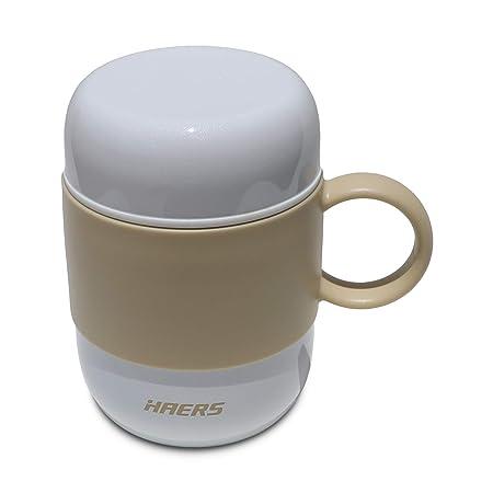 Taza de café Thermos, Taza con aislamiento al vacío de acero inoxidable de doble pared con tapa y mango - Taza a prueba de fugas 100% para viajes o ...