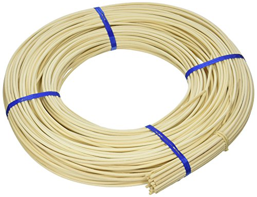 Commonwealth Basket Round Reed #5 3-1/4mm 1-Pound Coil, Approximately 360-Feet (Reed Basket)
