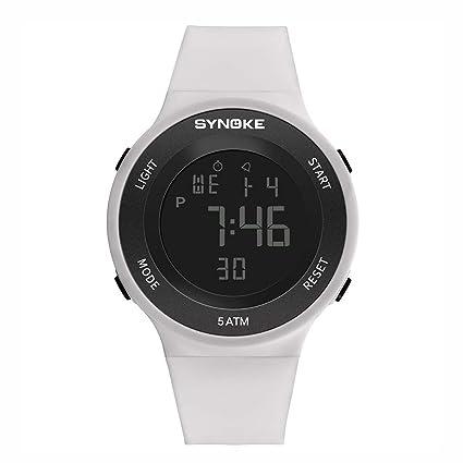 Best Gift!!Lankcook Fitness LED Digital Watch Men Watch
