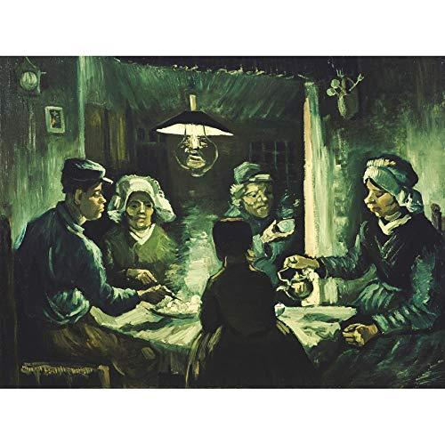The Van Eaters Potato Vincent Gogh (Vincent Van Gogh The Potato Eaters Unframed Wall Art Print Poster Home Decor Premium)