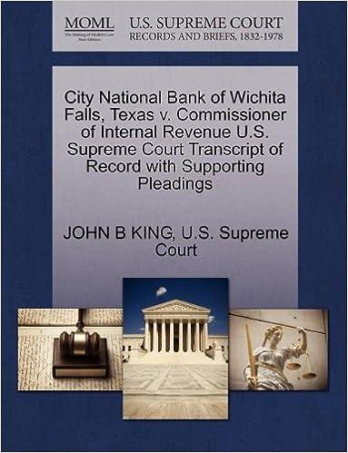 City National Bank Of Wichita Falls Texas V Commissioner Of