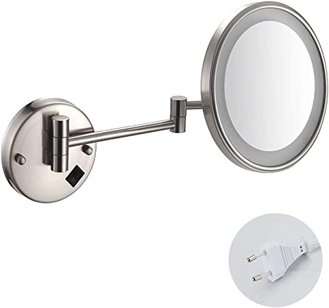 Miroir Grossissant Lumineux Mural Miroirs De Maquillage Miroir