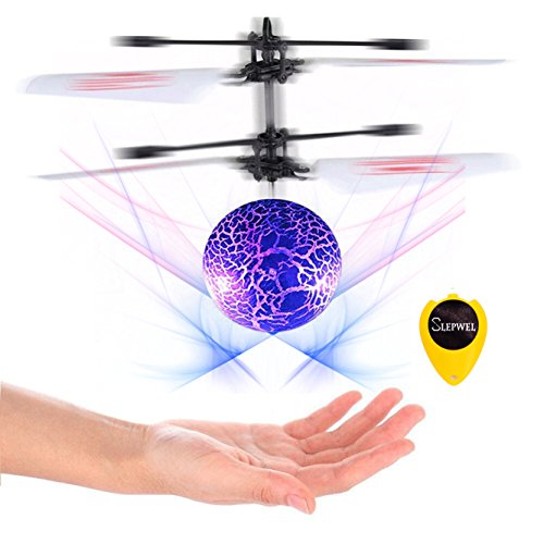 Slepwel Flying Ball,Children Flying Toys, Mini RC infrared Helicopter Ball Built-in Shinning LED Lighting for Kids, Teenagers Colorful Flyings for Kid