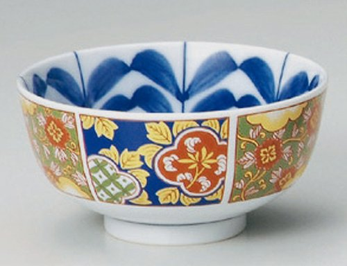 OLD-IMARI Jiki Japanese Porcelain Set of 5 Ramen-Bowls for UDON,SOBA,TERIYAKI-BOWL made in JAPAN