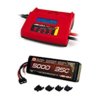 Venom 35C 3S 5000mAh 11.1V LiPo Battery with Universal Plug System and Venom Pro Charger 2 LiPo and NiMH Battery Charger Combo