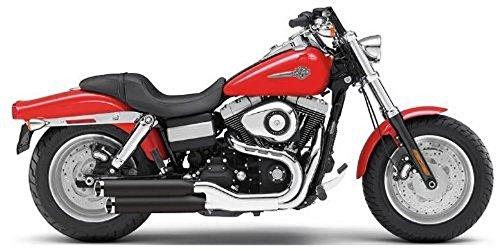 - Cobra 10-17 Harley FXDWG Slip-On Exhaust (Black / 3
