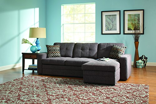 Coaster Home Furnishings 501677 Casual Sectional Sofa, Dark Grey