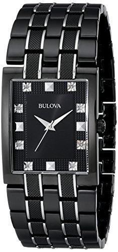 Bulova Men's 98D111 Bracelet Black Dial Watch (Bulova Black Mens Dial Diamond)