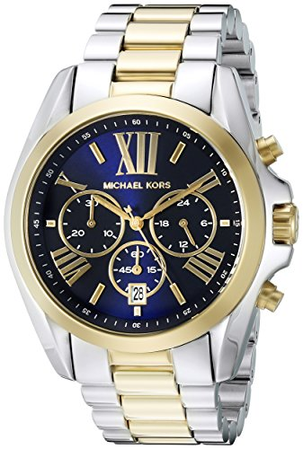 Michael Kors Men's Bradshaw Two-Tone Watch (Two Tone Chronograph Silver Dial)