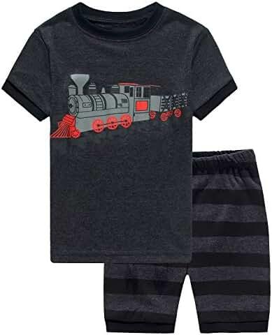 Boy Pajamas 2 Piece Children Sleepwears Set 100% Cotton Toddler Pjs Clothes Set